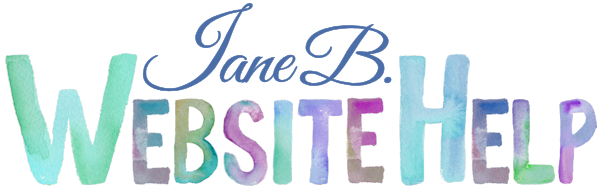 Jane B. Website Help