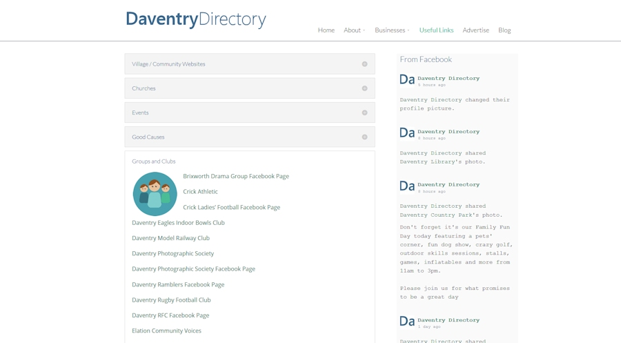 daventry directory useful links page
