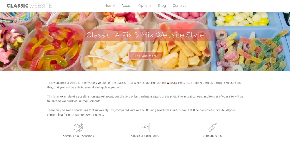 weebly classic website style