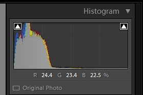 histogram of dark scene